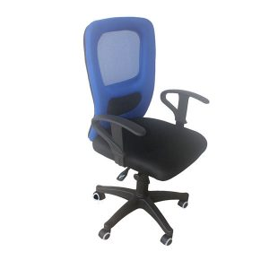 Executive-Mid-Blue-and-Black-Chair-2066B